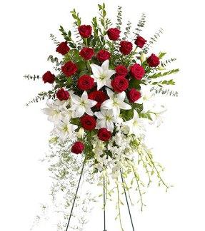 Bouquet de lys er roses