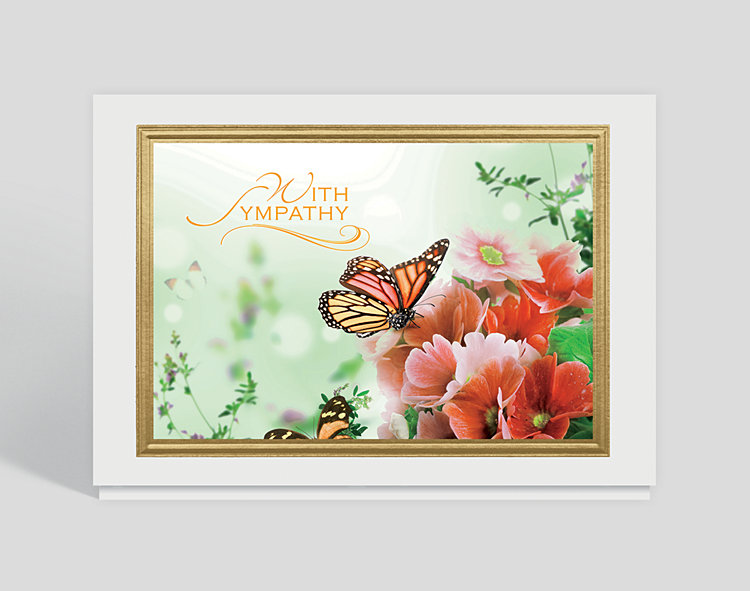 Butterfly Garden Sympathy Card - Greeting Cards