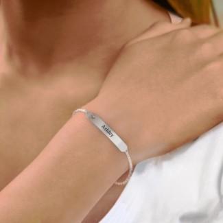 Engravable Bracelet with Heart