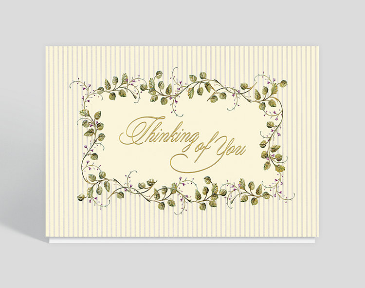 Flowering Vine Thinking of You Card - Greeting Cards