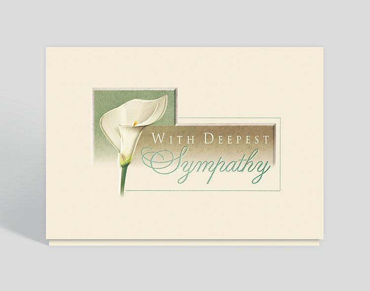 Lily Sympathy Card - Sympathy Cards