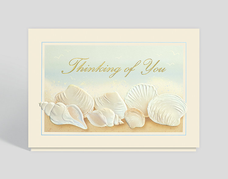 Thinking of You Seashells Card - Greeting Cards