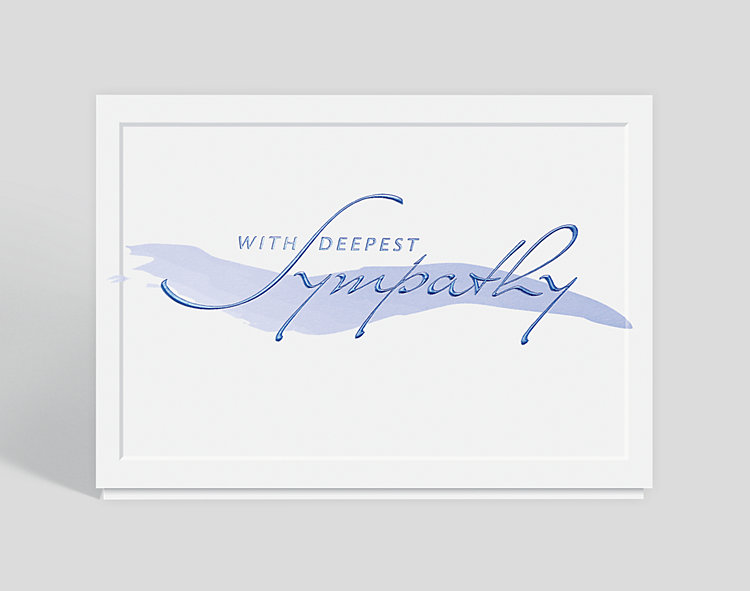 Brushstroke Sympathy Greeting Card - Sympathy Cards