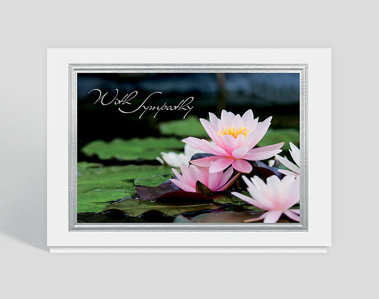 Lotus Blossom Sympathy Card - Greeting Cards