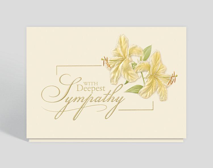 Deepest Sympathy Lilies Card - Sympathy Cards