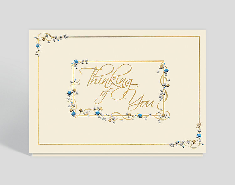 Floral Thoughts Sympathy Card - Business Thinking of You Cards