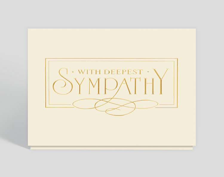 With Deepest Sympathy Elegance Card - Condolence Cards