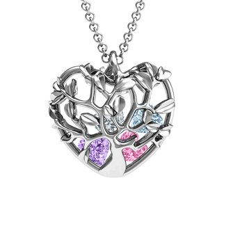 Family Tree Caged Pendant