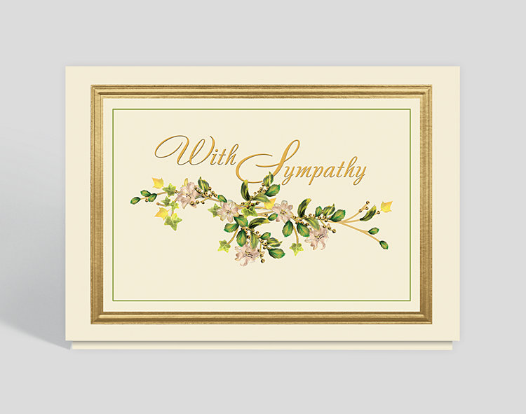 Sympathy Vine Card - Greeting Cards
