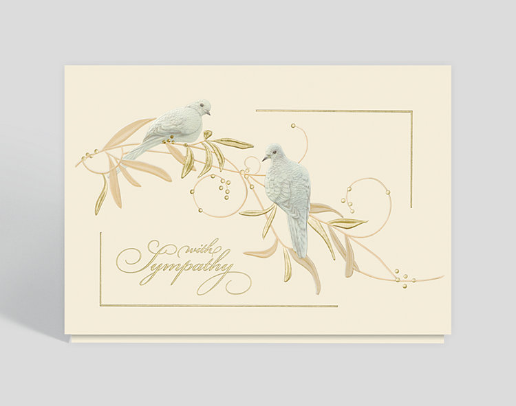 Sympathy Doves Greeting Card - Greeting Cards