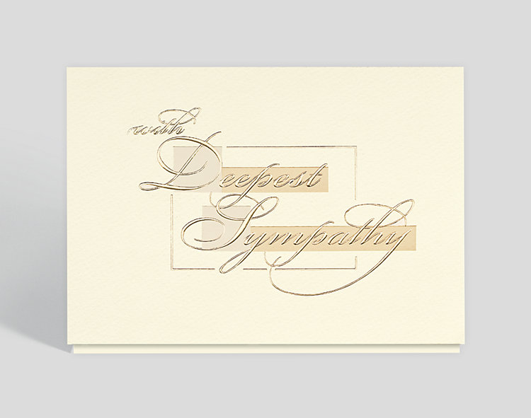 Golden Sympathy Card - Sympathy Cards