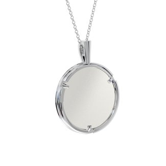 Classic Round Photo Frame Necklace