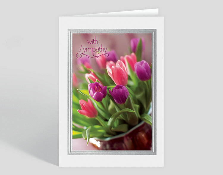 Tulip Bouquet Sympathy Card - Greeting Cards