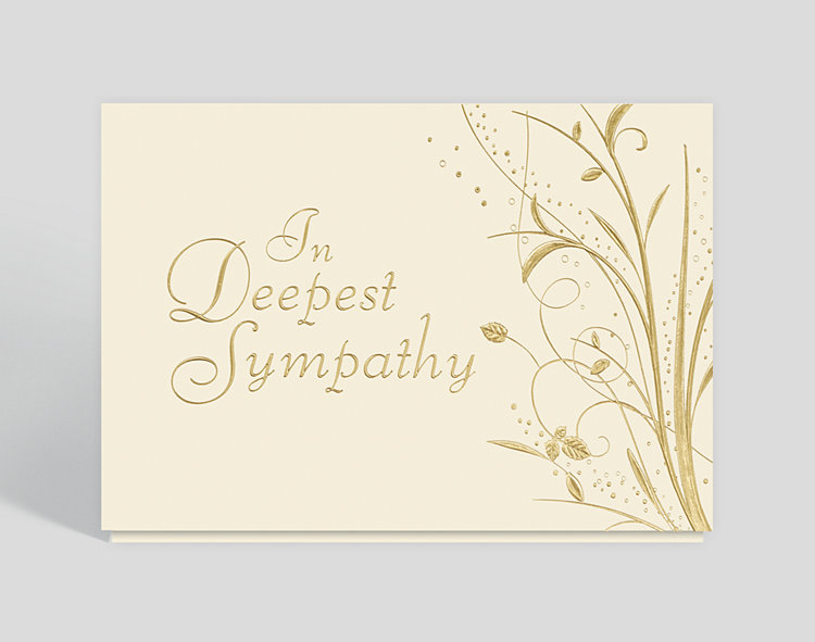 Sympathy Garden Card - Business Sympathy Cards