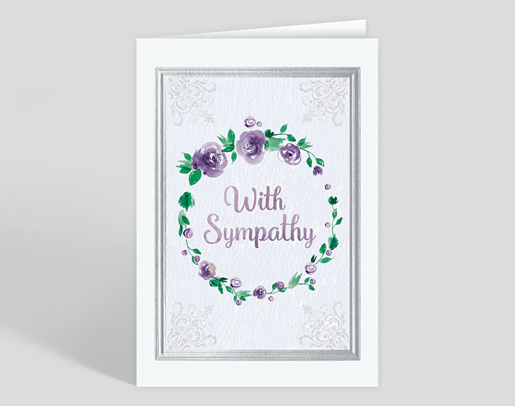 Watercolor Sympathy Card - Greeting Cards