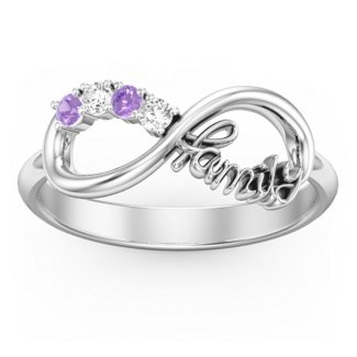 Family Infinite Love with Stones Ring