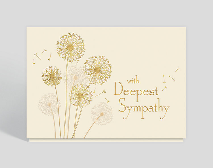 Dandelion Sympathy Card - Greeting Cards