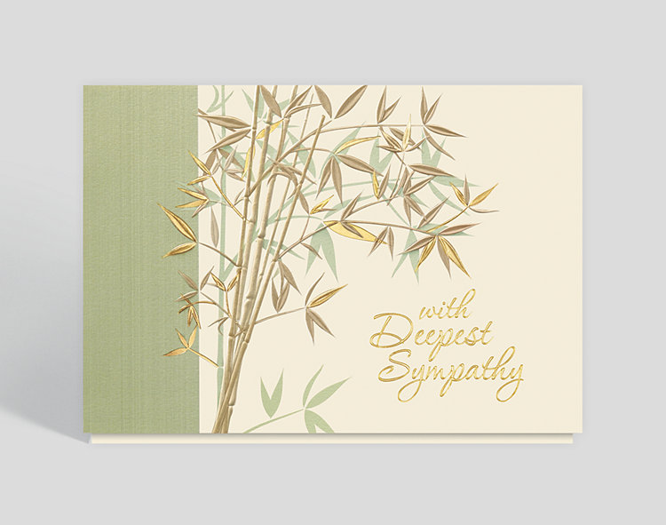 With Deepest Sympathy Garden Card - Greeting Cards