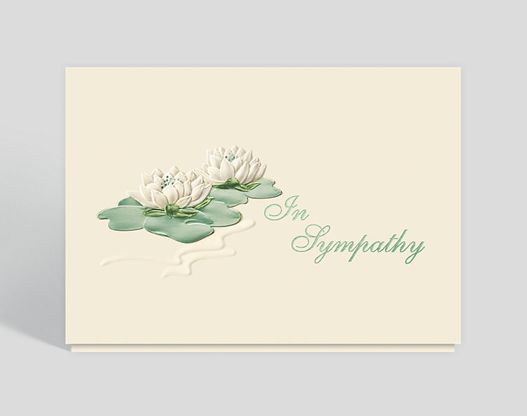 Sympathy Water Lilies Greeting Card - Sympathy Cards