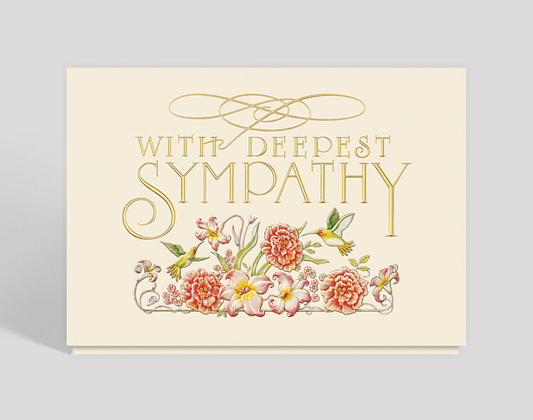 Garden Sympathy Card - Greeting Cards