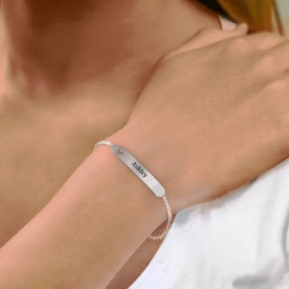 Bracelet gravable avec coeur