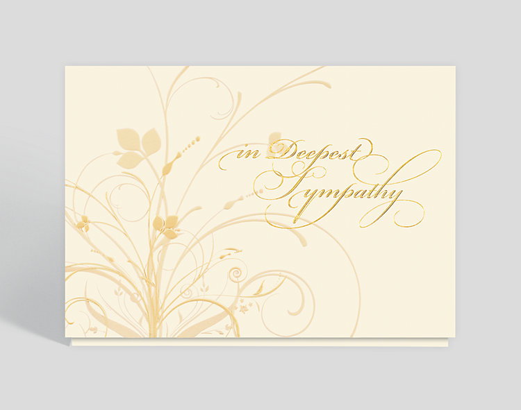 Graceful Expression Sympathy Card - Sympathy Cards